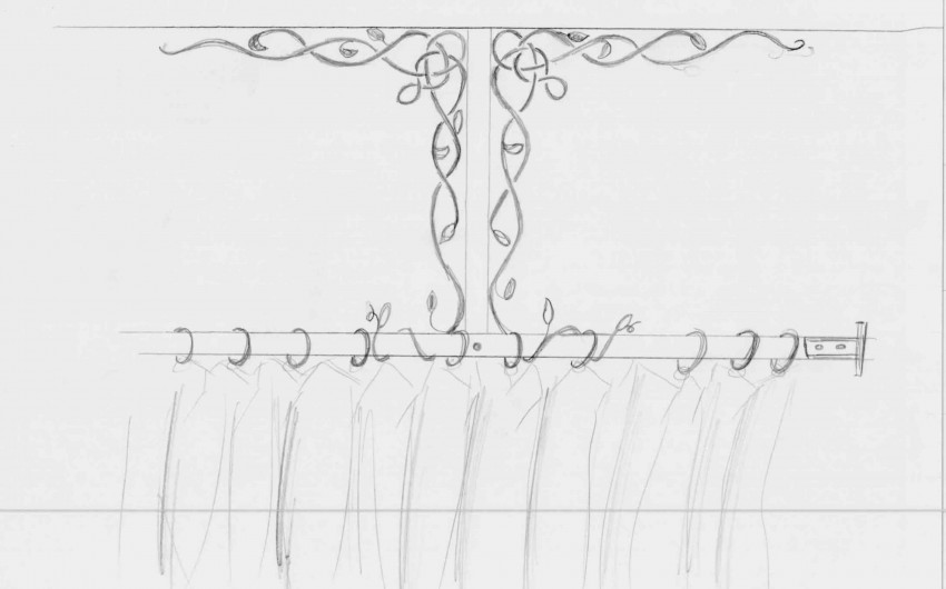 Shower Curtain Concept Sketch