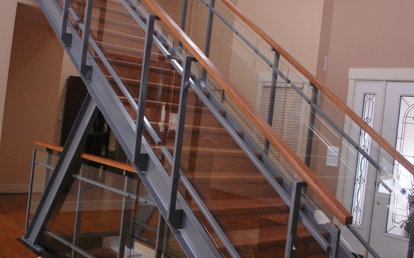 Grey Glass Railing