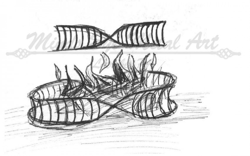 Fire Pit Ring Sketch
